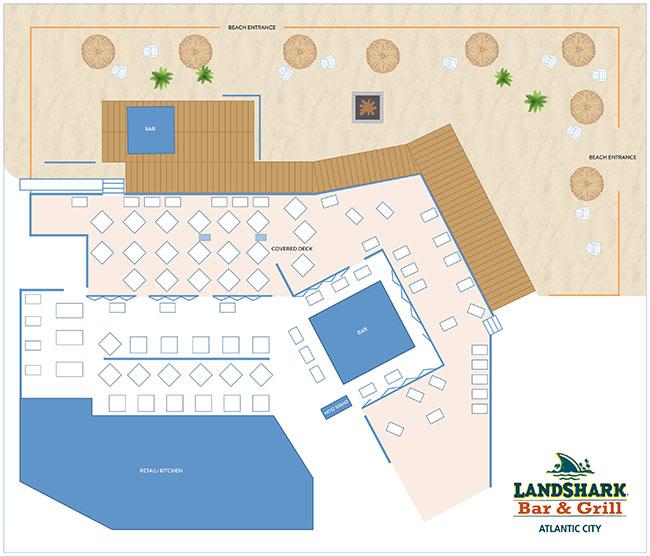 LandShark Atlantic City Floorplan