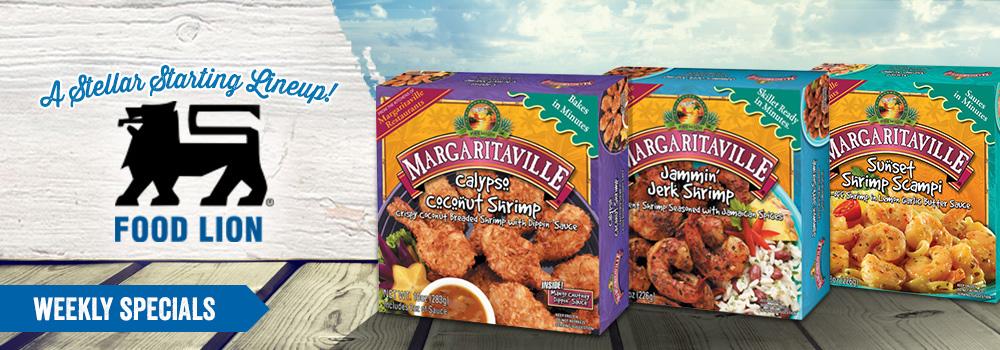 Margaritaville Foods at Food Lion