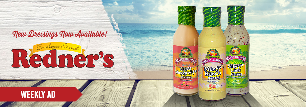 Margaritaville Foods available at Redner's