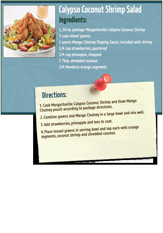 Calypso Coconut Shrimp Salad