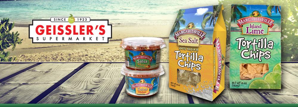 Margaritaville Foods on Sale Now at Geissler's Marketplace