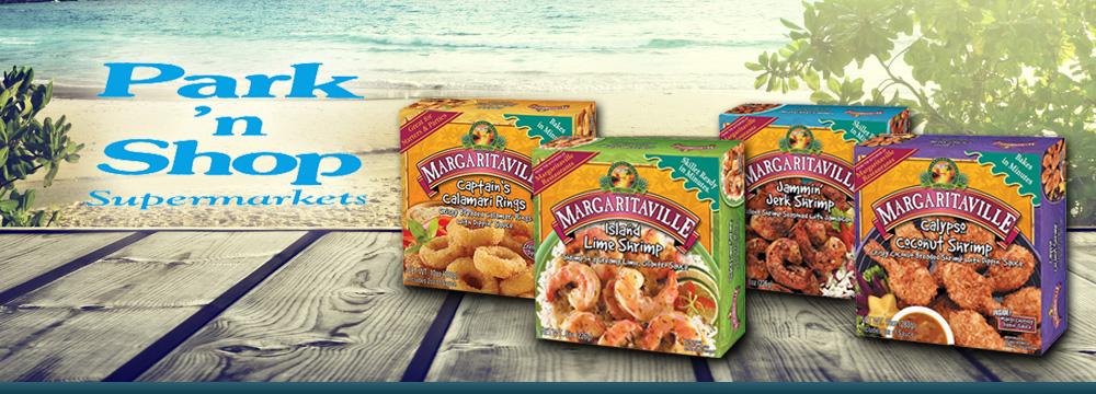 Margaritaville Foods on sale now at Park n' Shop