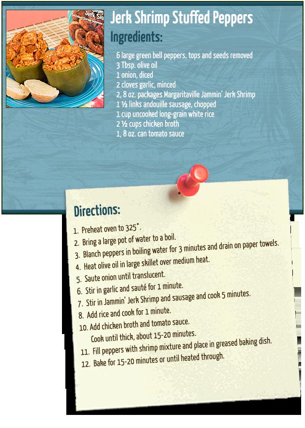 Jerk Shrimp Stuffed Peppers