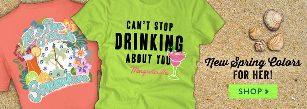 New Spring Women's Margaritaville Tees
