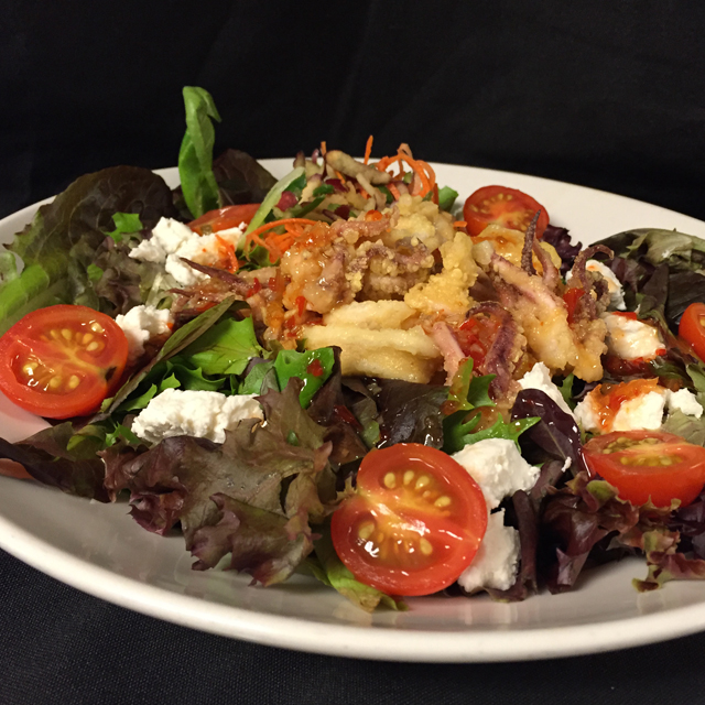 Hot and Sweet Calamari Salad