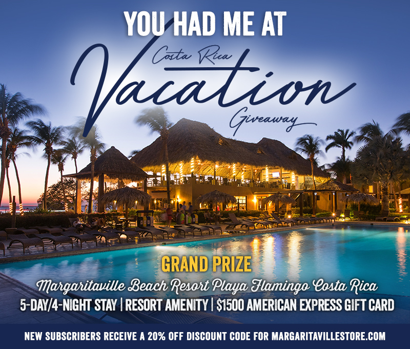 Enter To Win - Margaritaville's You Had Me at Costa Rica Vacation - 5-day/4-night Stay at Margaritaville Beach Resort Playa Flamingo Costa Rica, Resort Amenity, and $1500 American Express Gift Card