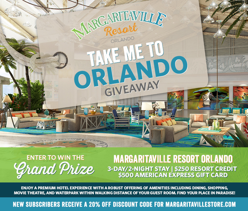 "Enter To Win - Margaritaville's ""Take Me To Orlando "" Giveaway - Margaritaville Resort Orlando 3-Day/2-Night Stay 