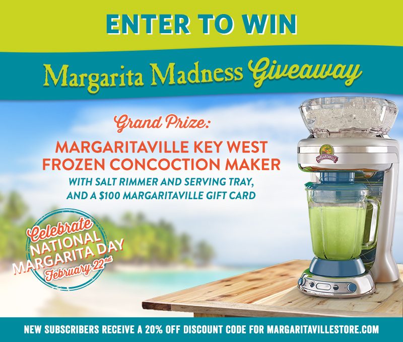 Enter To Win - Margaritaville's Music City Giveaway - Grand Prize: Margaritaville Key West Frozen Concoction Maker With Salt Rimmer And Serving Tray, And A $100 Margaritaville Gift Card