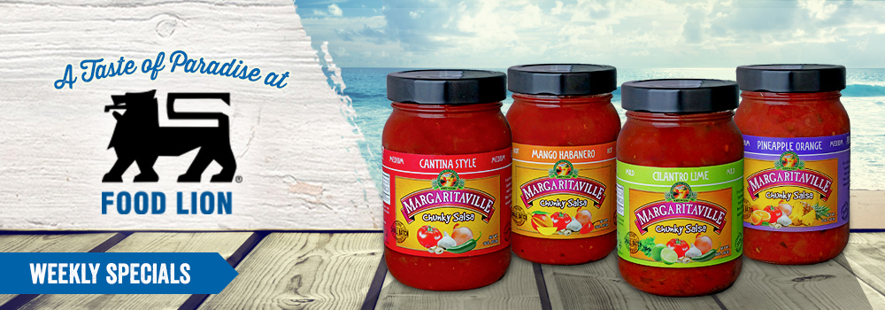 Margaritaville Foods Available at Food Lion