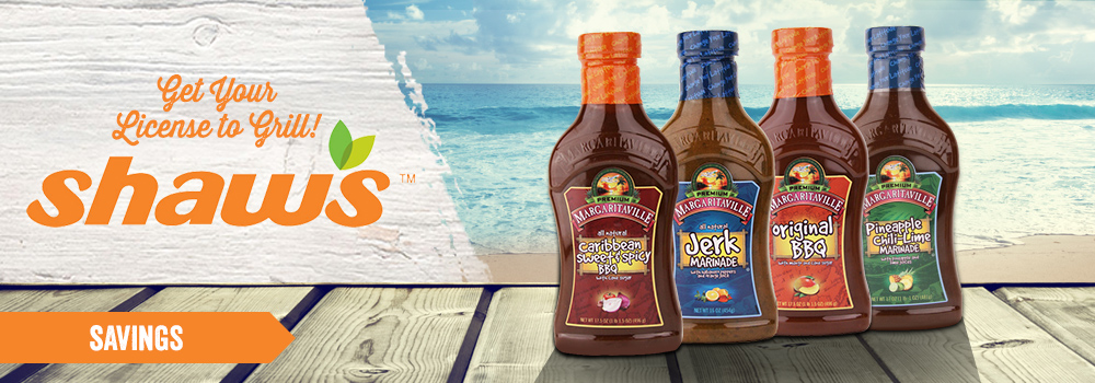 Margaritaville Foods available at Shaw's