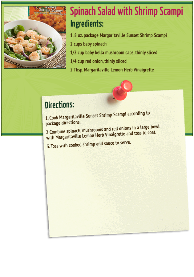 Spinach Salad with Shrimp Scampi