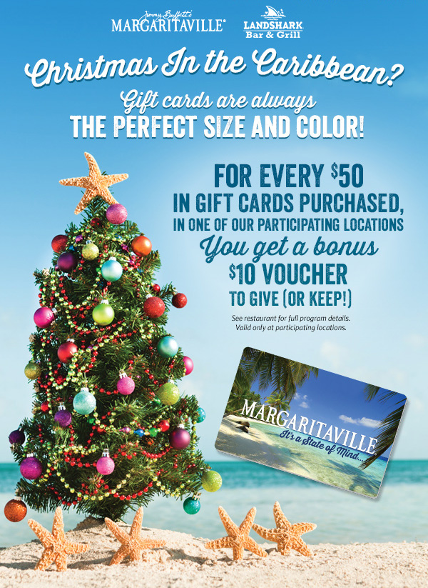 Christmas In the Caribbean Gift Card Bonus | Pigeon Forge, TN ...