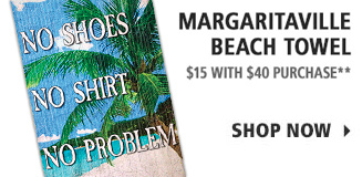 Margaritaville Beach Towel - $15 with $40 purchase
